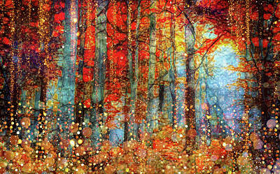 Mixed Media - Golden Autumn by Lilia D