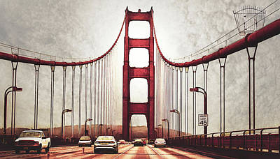 Photograph - Golden Gate Bridge  by Joseph Hollingsworth