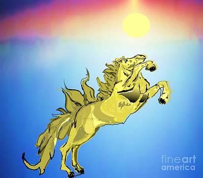 Painting - Golden Glory by Belinda Threeths