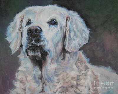 Golden Retriever Painting - Golden Retriever Portrait by Lee Ann Shepard