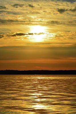 Photograph - Golden Sunset  by Lyle Crump