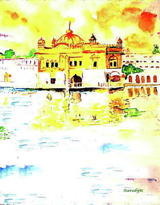 Painting - Golden Temple by Sarabjit Singh