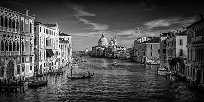 Gondola On The Grand Canal Art Print by Andrew Soundarajan