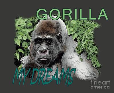 Drawing - Gorilla My Dreams by Joseph Juvenal