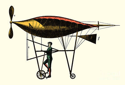 Photograph - Goupil's Flying Machine 1883 by Science Source