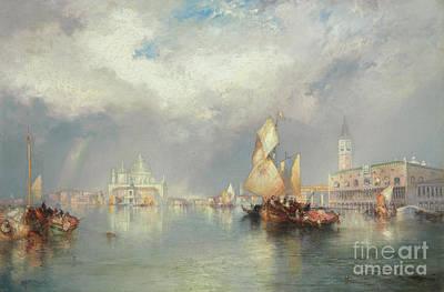 Campanile Painting - Grand Canal, Venice by Thomas Moran