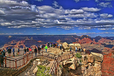 Photograph - Grand Canyon #  4 - Mather Point Overlook by Allen Beatty