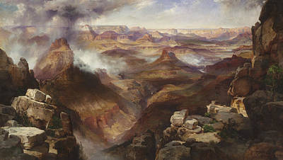 Grand Canyon Of Arizona Painting - Grand Canyon Of The Colorado River by Thomas Moran