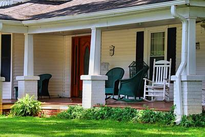 Photograph - Grand Old House Porch by Kathryn Meyer