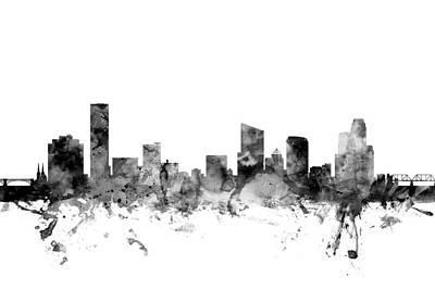 Rapid Digital Art - Grand Rapids Michigan Skyline by Michael Tompsett