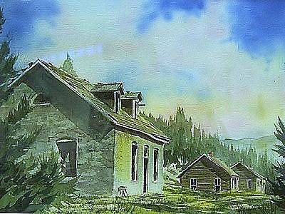 Painting - Granite Ghost Town Montana by Kevin Heaney