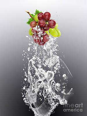 Grape Mixed Media - Grape Splash by Marvin Blaine