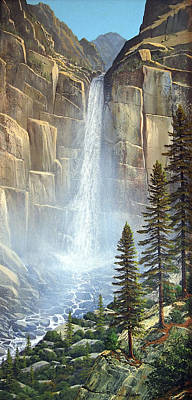 Great Falls Art Print by Frank Wilson