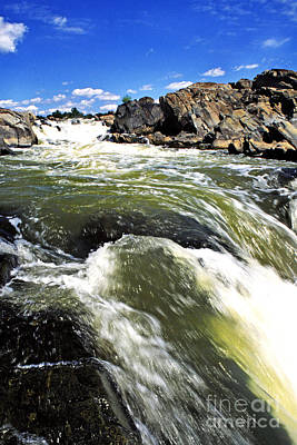 Great Falls Of The Potomac River Art Print by Thomas R Fletcher