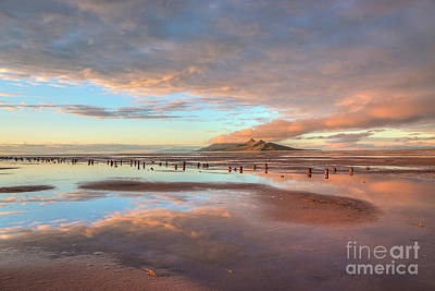 Photograph - Great Salt Lake Sunset by Spencer Baugh
