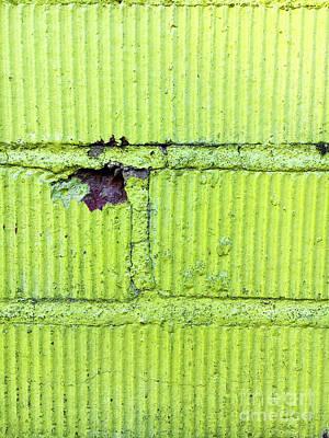 Green Brick Wall Art Print by Tom Gowanlock