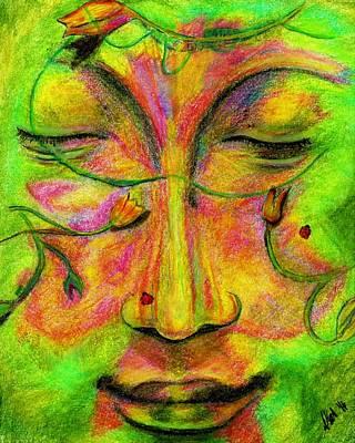 Green Man Dreaming Original