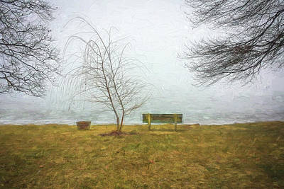 Photograph - Green Pond New Jersey Winter C407 by Rich Franco