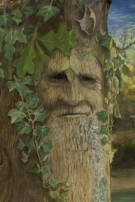 Greenman Painting - Greenman by Joyce Gibson