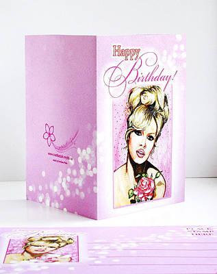 Bardot Photograph - Greeting Card With Envelope by Svetlana Pelin