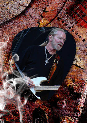 Gregg Allman Mixed Media - Gregg Allman Art by Marvin Blaine