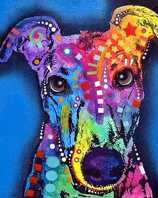 Greyhound Painting - Greyhound by Dean Russo