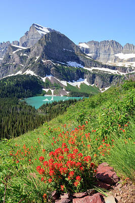 Photograph - Grinnell Lake by Jack Bell