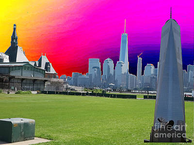Painting - Ground  Zero Freedom Tower Formerly World Trade  Centre Wtc New York Photo Taken On July 4 2015 Usa  by Navin Joshi