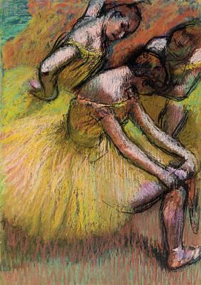Prima Ballerina Painting - Group Of Dancers by Edgar Degas