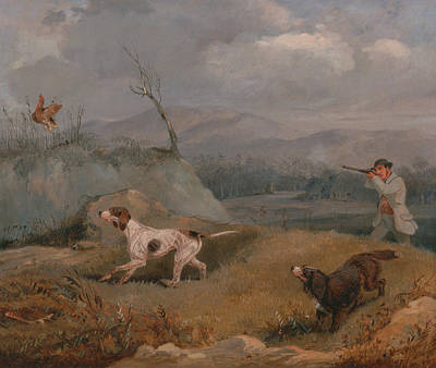 Painting - Grouse Shooting by Treasury Classics Art