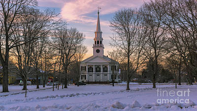Photograph - First Congregational Church. Guilford, Connecticut. by New England Photography