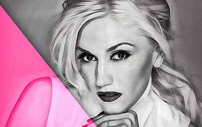 Rock Stars Mixed Media - Gwen Stefani Collection by Marvin Blaine