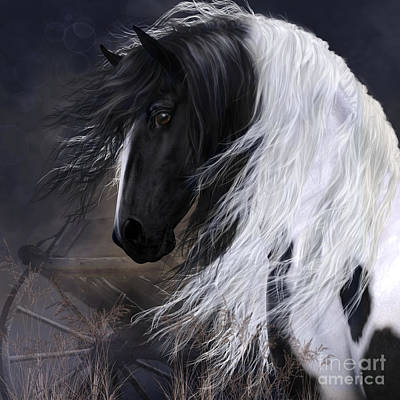 Gypsy Vanner Art Print by Shanina Conway