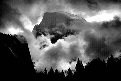 Photograph - Half Dome And Clearing Storm by Richard Delbridge