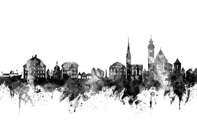 Digital Art - Hallstatt Austria Skyline by Michael Tompsett
