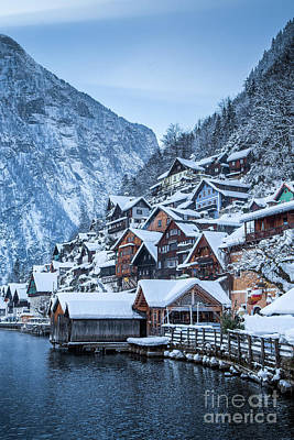 Photograph - Hallstatt Winter Dreams by JR Photography