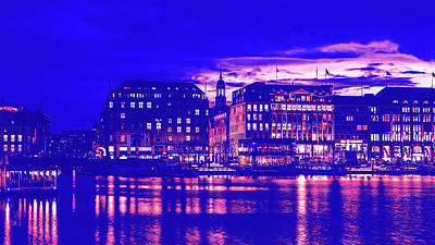 Photograph - Hamburg At Sunset by Pixabay