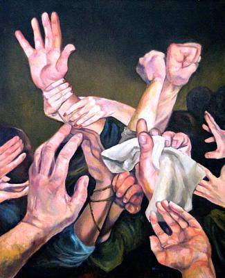 Hands Art Print by Douglas Manry