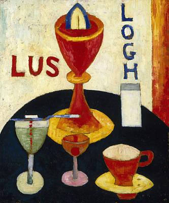 Fine American Art Painting - Handsome Drinks by Marsden Hartley