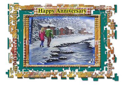 Painting - Happy Anniversary by Saeed Hojjati