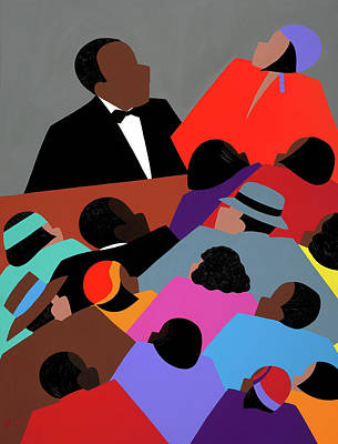 Wall Art - Painting - Harlem Renaissance Aka Jazzed by Synthia SAINT JAMES