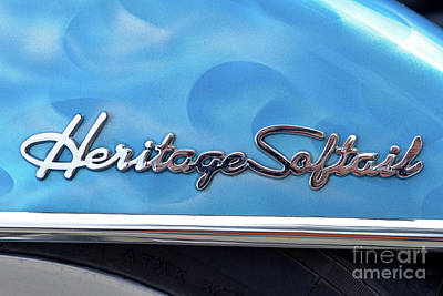 Collectible Photograph - Harley-davidson Heritage Softail Badge by George Atsametakis