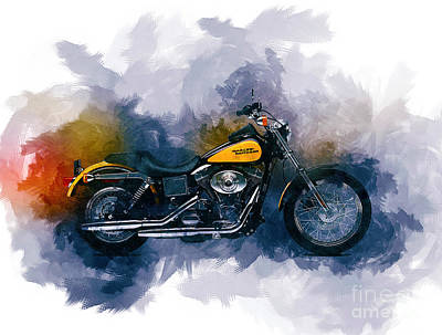 Digital Art - Harley Davidson by Ian Mitchell