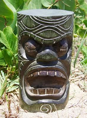 Hawaiian Tiki God Ku Print by Mary Deal