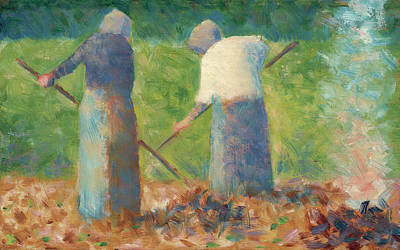 Painting - Haymakers At Montfermeil by Georges Seurat