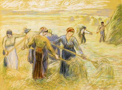 Haymaking Art Print by Camille Pissarro