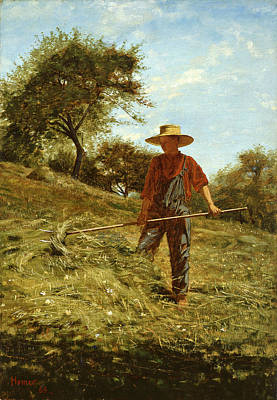 Winslow Homer Painting - Haymaking by Winslow Homer