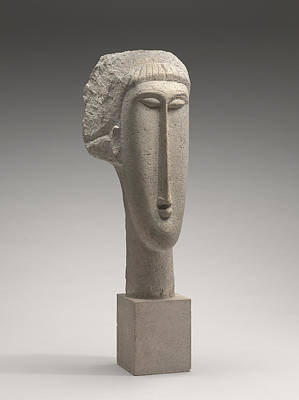 Sculpture - Head Of A Woman by Amedeo Modigliani