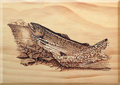 Pyrography - Heading Home by Ron Haist