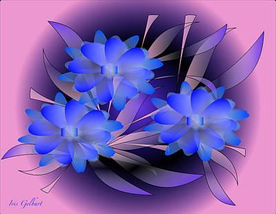 Digital Art - Heavenly Floral   3 by Iris Gelbart